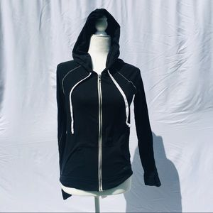 American Eagle Outfitters Tops - American Eagle black white cotton zip up hoodie SP